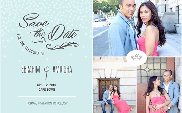 Save the Date – Ebrahim and Amrisha
