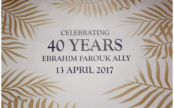 #EBS40 Ebrahim's 40th. Country Club, Johannesburg